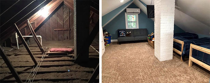The Evans Family Attic Renovation